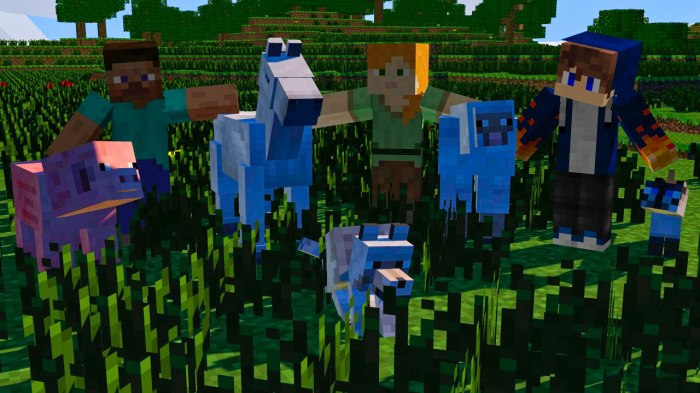 Scenes from Minecraft